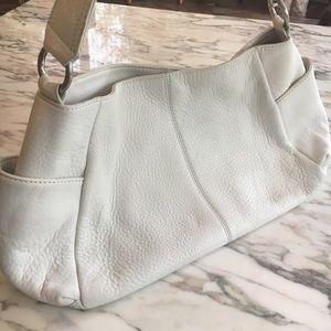 HOBO INTERNATIONAL white leather bag